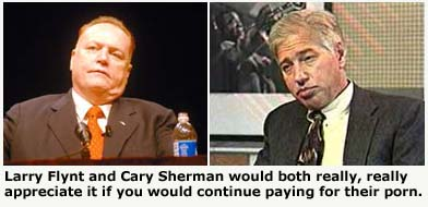 Larry Flynt and Cary Sherman, united against filesharing.